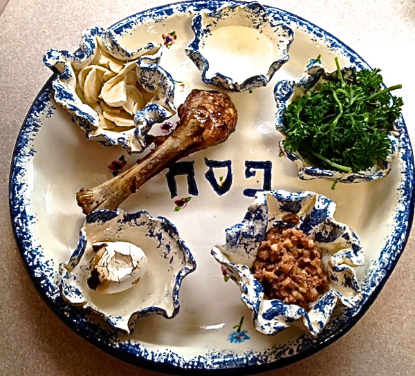 A traditional Passover Seder meal